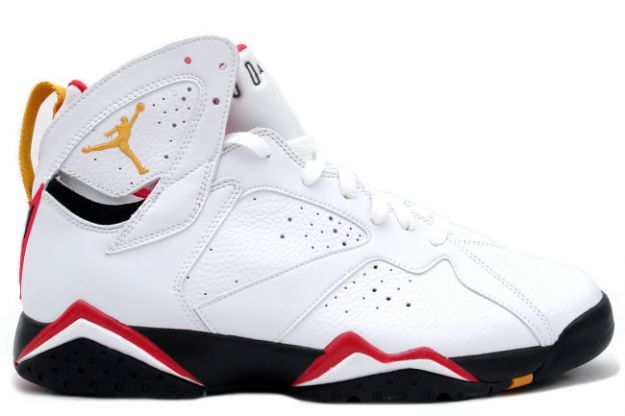 Cheap Air Jordan Shoes 7 Retro Cardinals White Black Cardinal Red Bronze