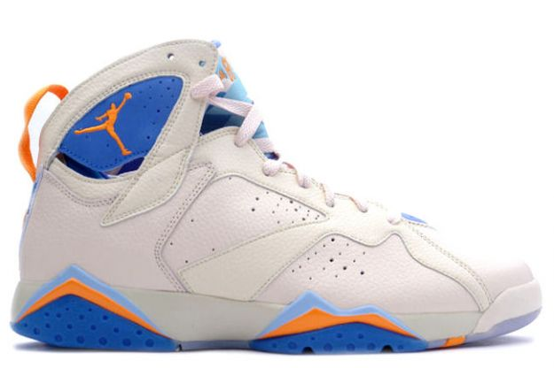 Cheap Air Jordan Shoes 7 Retro Pearl White Bright Ceramic Pacific Blue