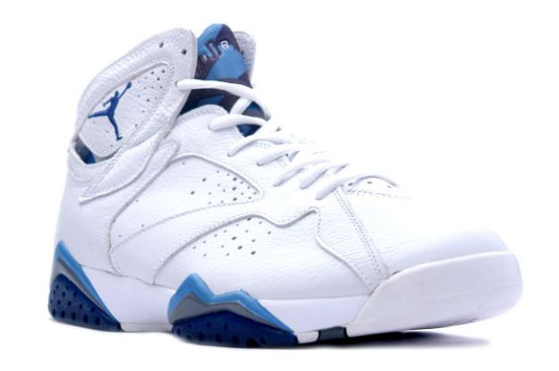 Cheap Air Jordan Shoes 7 Retro White French Blue Flint Grey