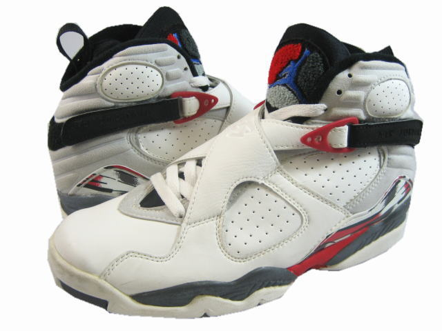 Cheap Air Jordan Shoes 8 Original White Black True Red