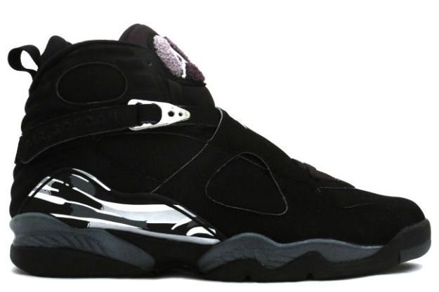 Cheap Air Jordan Shoes 8 Retro Black Chrome