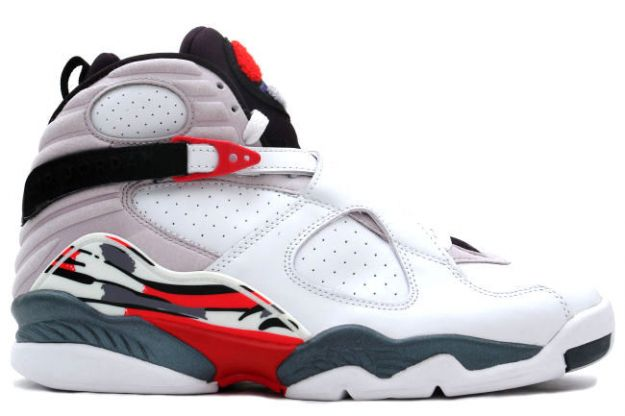 Cheap Air Jordan Shoes 8 Retro White Black True Red