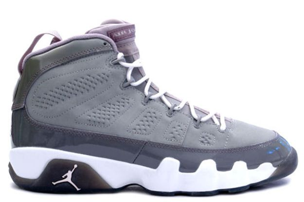 Cheap Air Jordan Shoes 9 Retro Medium Grey White Cool Grey