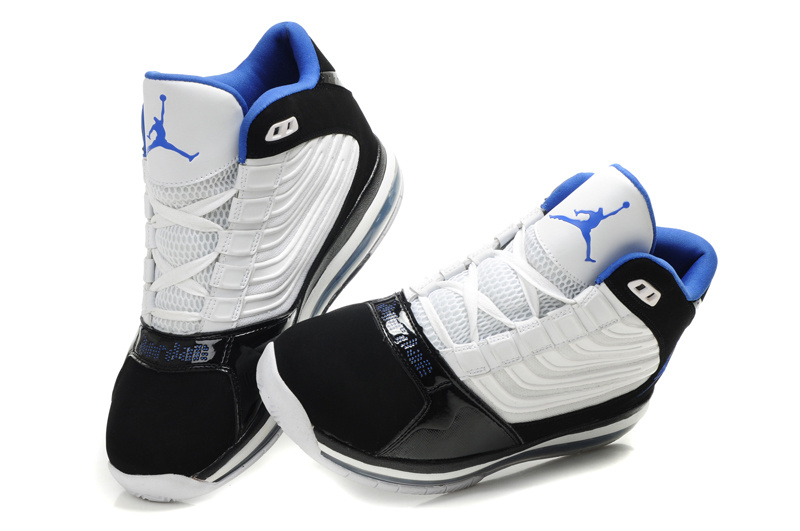 Cheap Air Jordan Shoes Big Ups White Blue