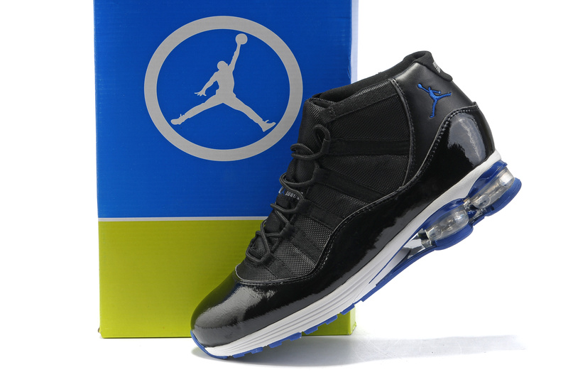 Cheap Air Cushion Jordan Shoes 11 Black White Blue Shoes