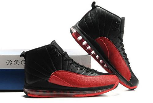 Cheap Air Cushion Jordan 12 Black Red Shoes