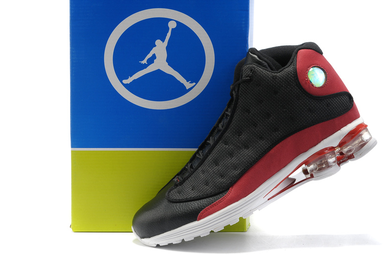 Cheap Air Cushion Jordan Shoes 13 Black Red Shoes