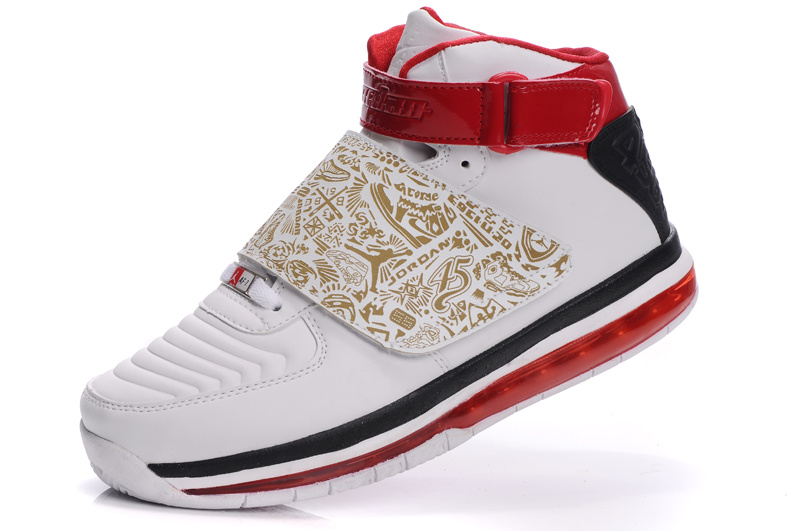 Cheap Air Cushion Jordan 20 White Red Black Shoes