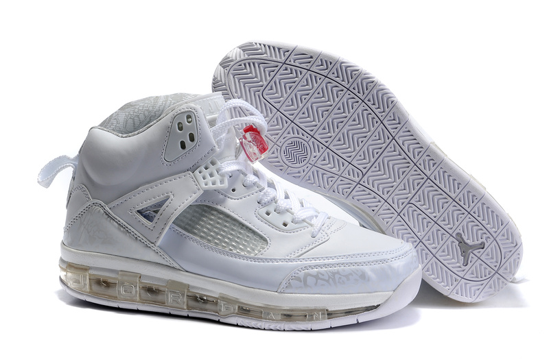 Cheap Air Cushion Jordan 3.5 All White Shoes