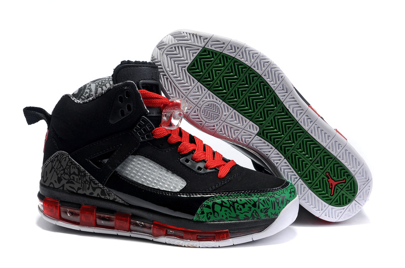 Cheap Air Cushion Jordan 3.5 Black Red Green Shoes
