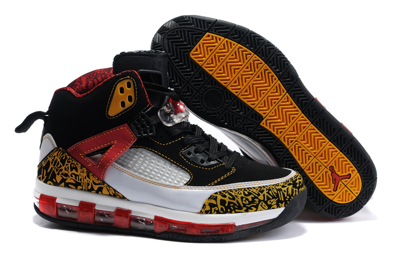 Cheap Air Cushion Jordan 3.5 Black White Yellow Red Shoes