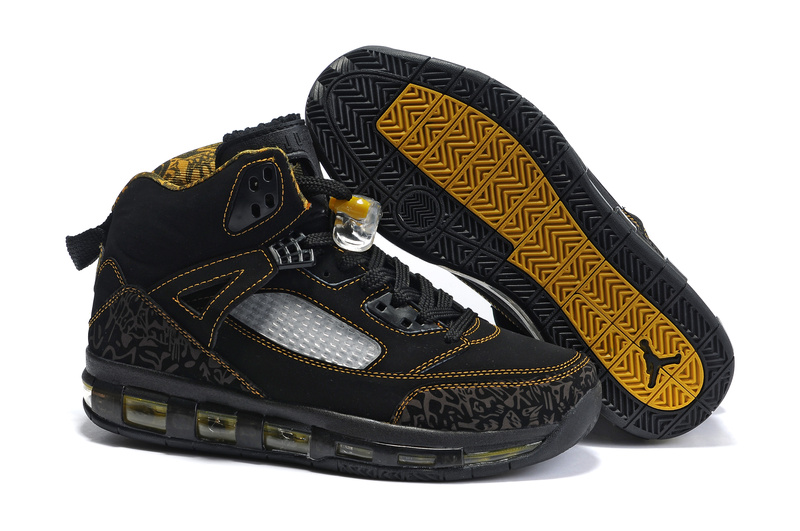 Cheap Air Cushion Jordan 3.5 Black Yellow White Shoes
