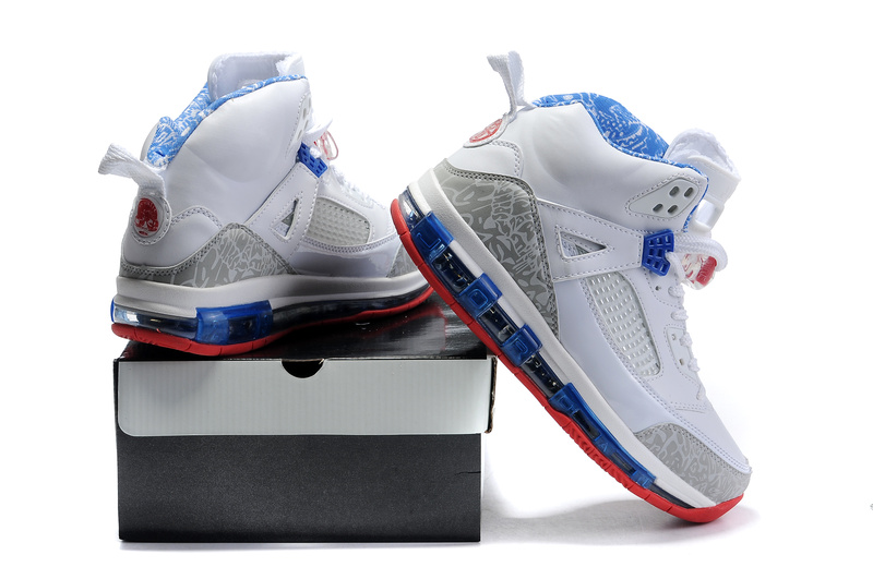 Cheap Air Cushion Jordan 3.5 White Blue Red Shoes