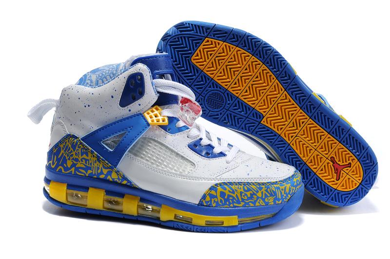 Cheap Air Cushion Jordan 3.5 White Blue Yellow Shoes