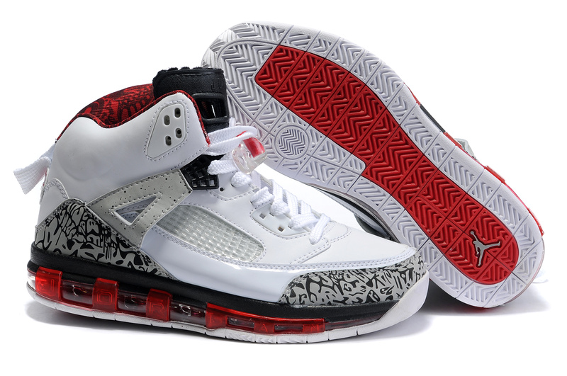 Cheap Air Cushion Jordan 3.5 White Grey Black Red Shoes