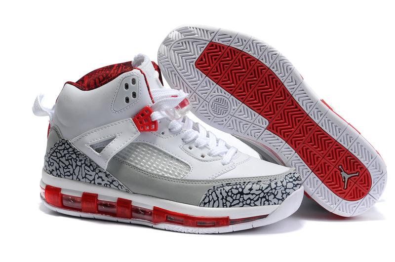 Cheap Air Cushion Jordan 3.5 White Grey Red Shoes