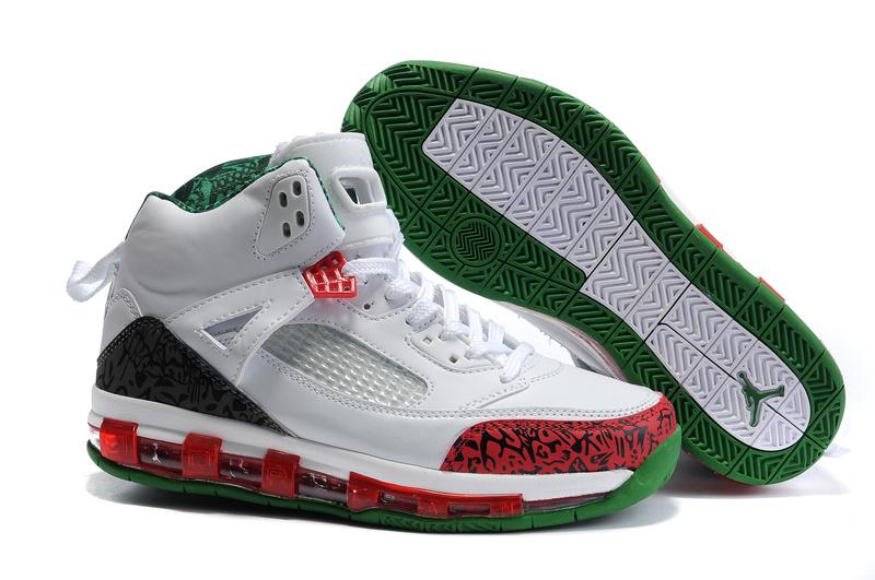Cheap Air Cushion Jordan 3.5 White Red Black Green Shoes