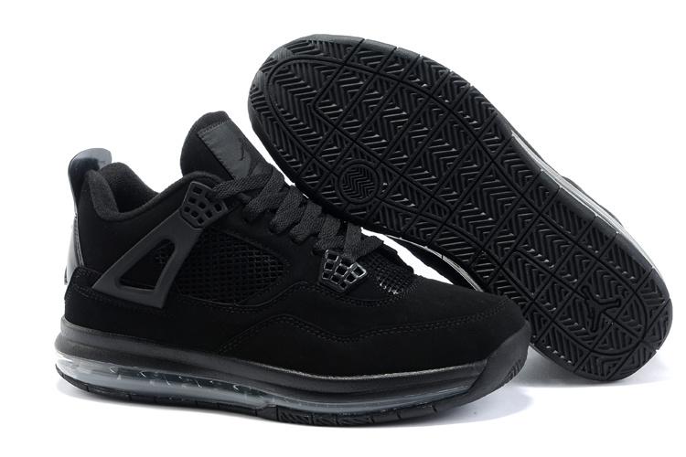 Cheap Air Cushion Jordan 4 Black Shoes