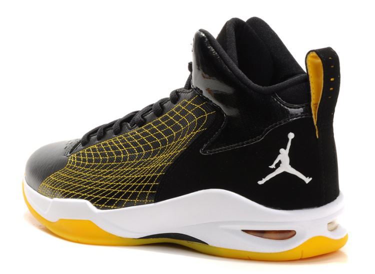 Cheap Air Jordan Shoes Fly Spiderman Black Yellow White