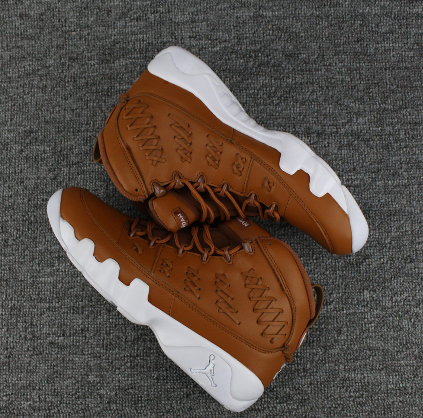 air jordan 9 brown/white