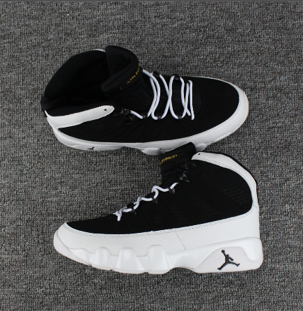 Latest Air Jordan 9 Black White Shoes