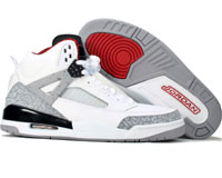 Cheap Air Jordan Spizike White Cement Black Shoes
