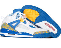 Cheap Air Jordan Spizike White Varsity Red Pro Gold Argon Blue Shoes