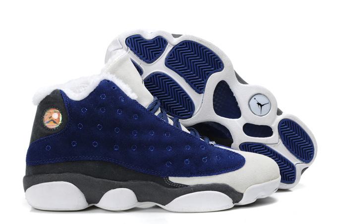 Cheap Air Jordan Shoes 13 Warm Blue White
