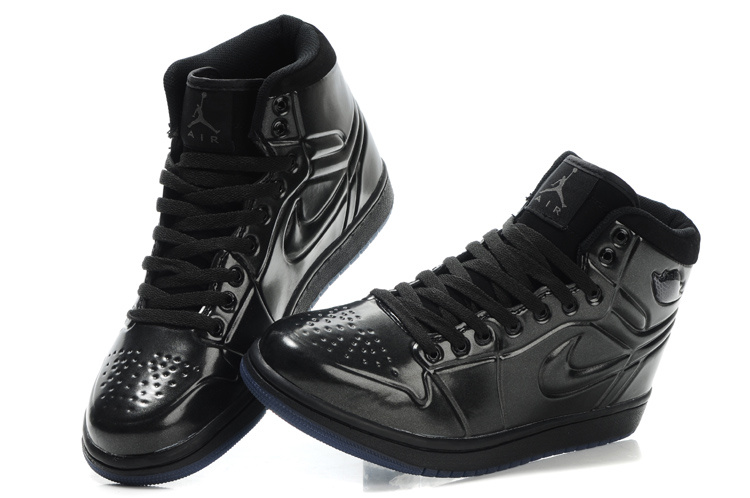 New Air Jordan 1 Shoes High Heel Black
