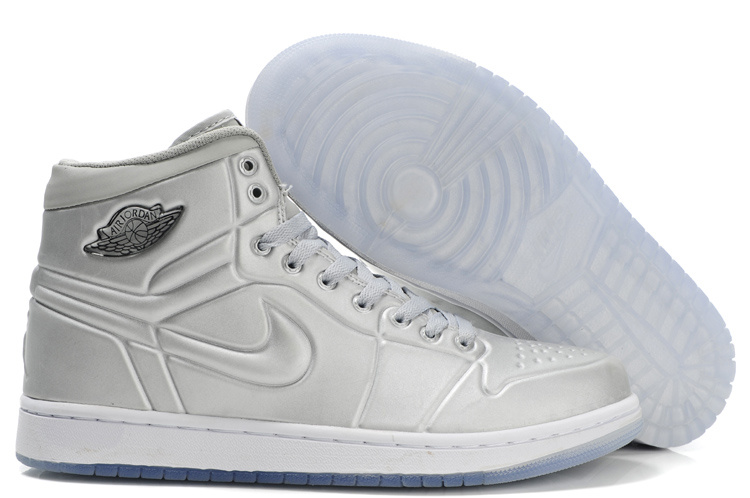 New Air Jordan 1 Shoes High Heel Grey